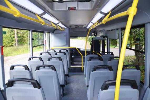 Пассажирский салон автобуса ВЕКТОР NEXT 7.1